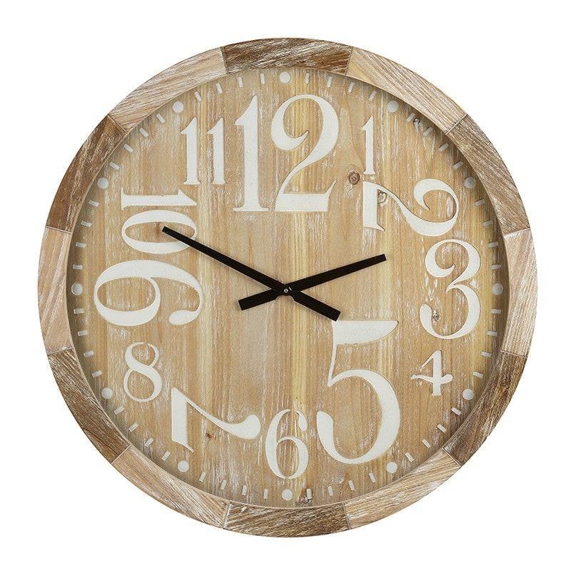 Wooden framed large clock