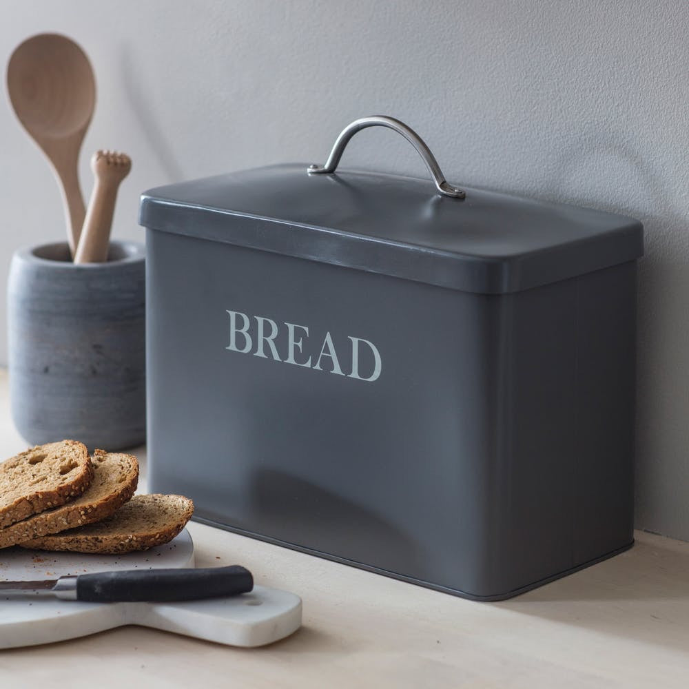 Steel Bread Bin - Carbon