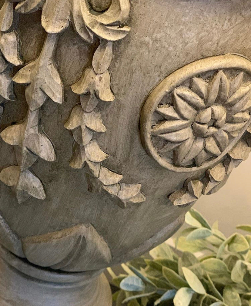 Distressed Carved Effect Lamp