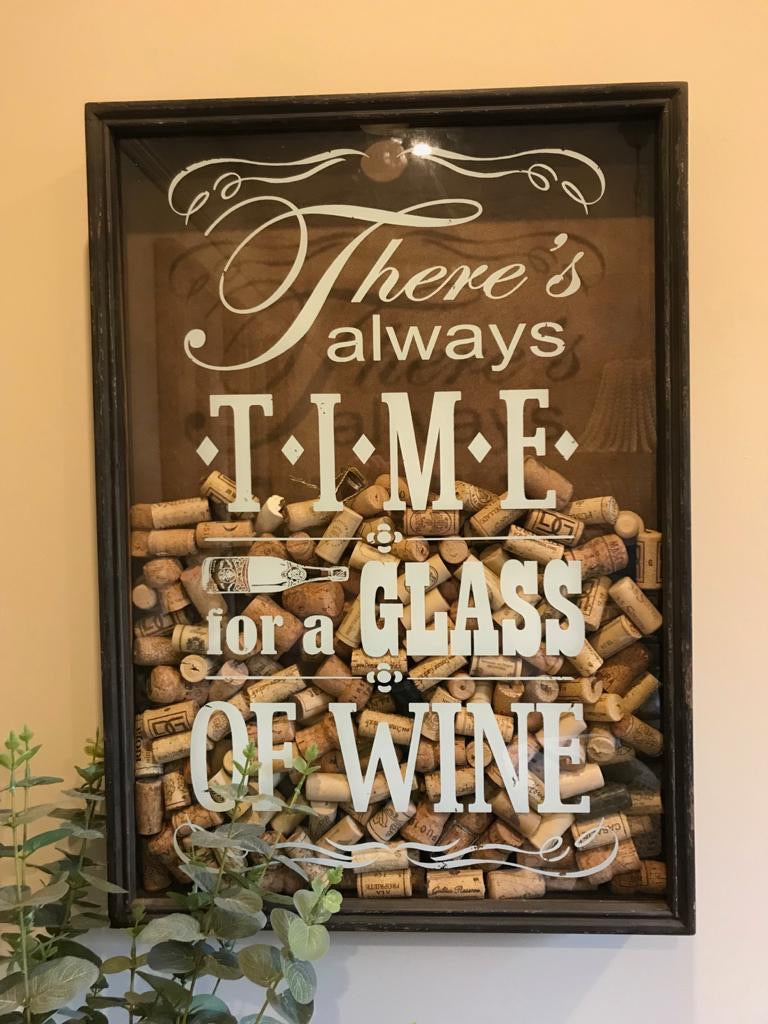 Time for Wine cork holder