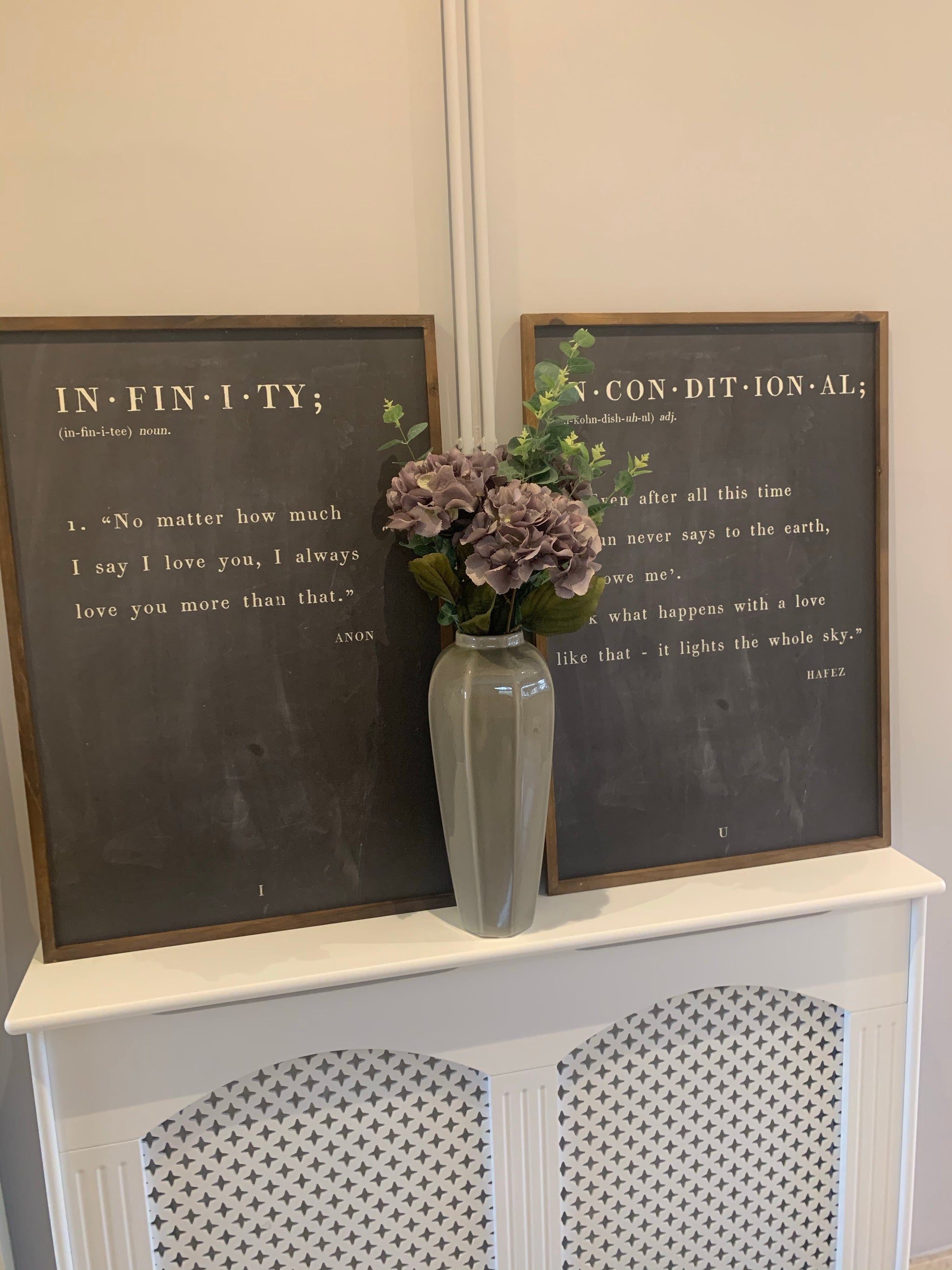 Large chalkboard plaques - 2 styles