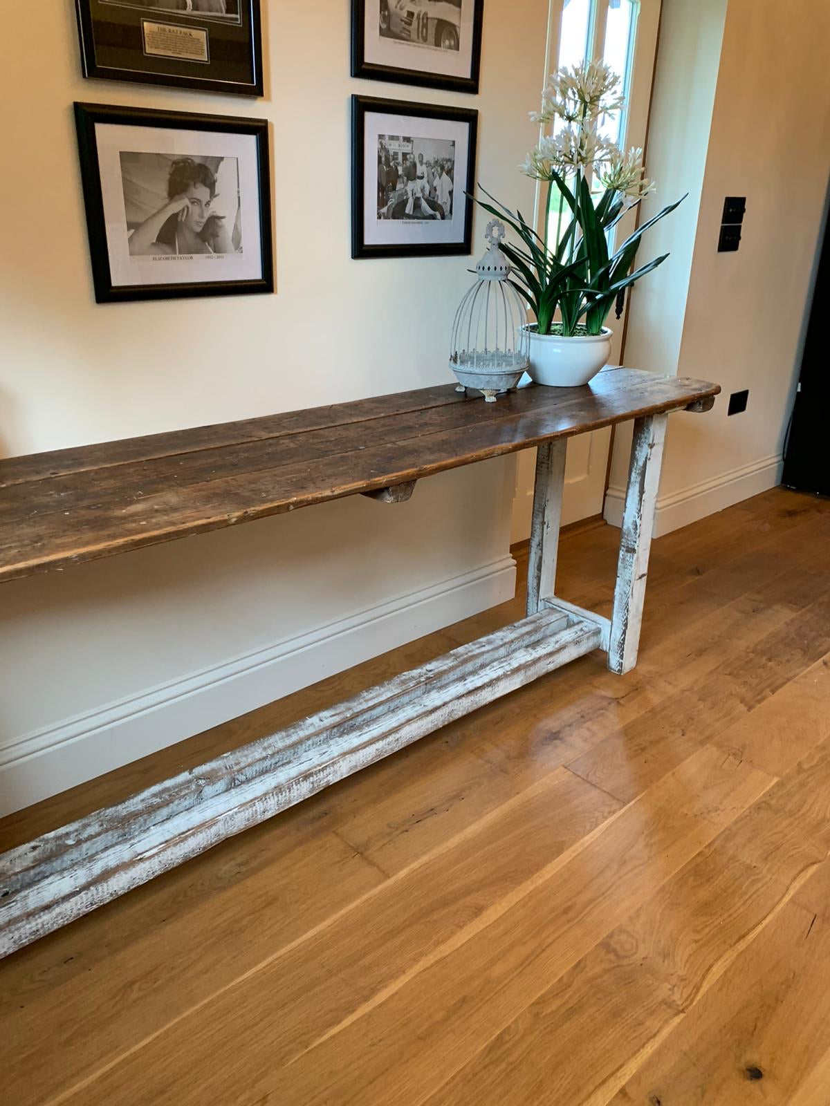 Handmade console table