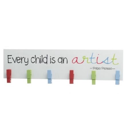 Every child is an artist peg board