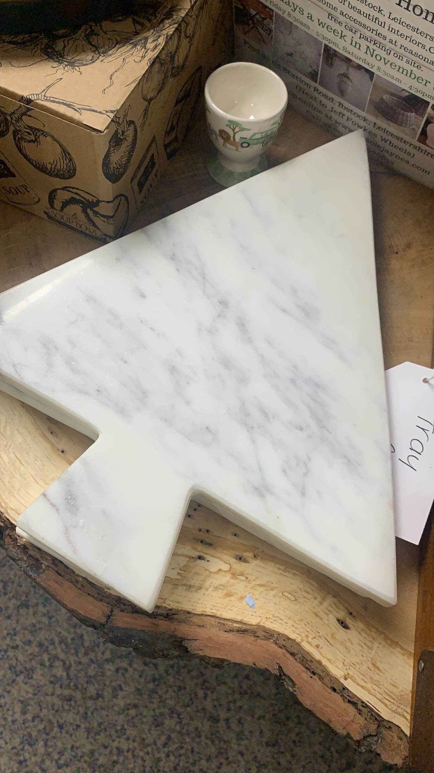 Marble Christmas Tree Board