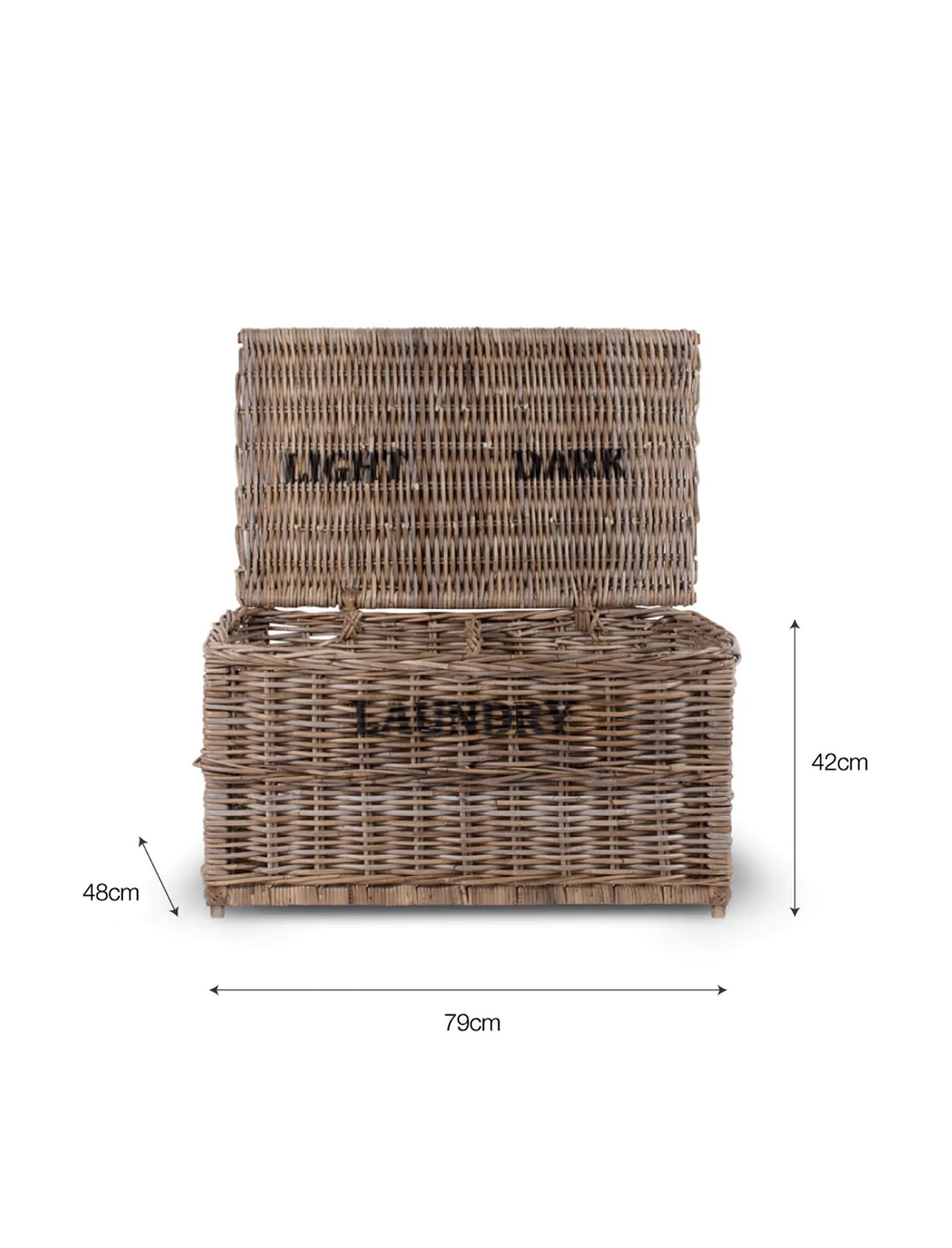 Rattan Laundry Basket , Lights and Darks *FEBRUARY 2021 DELIVERY*