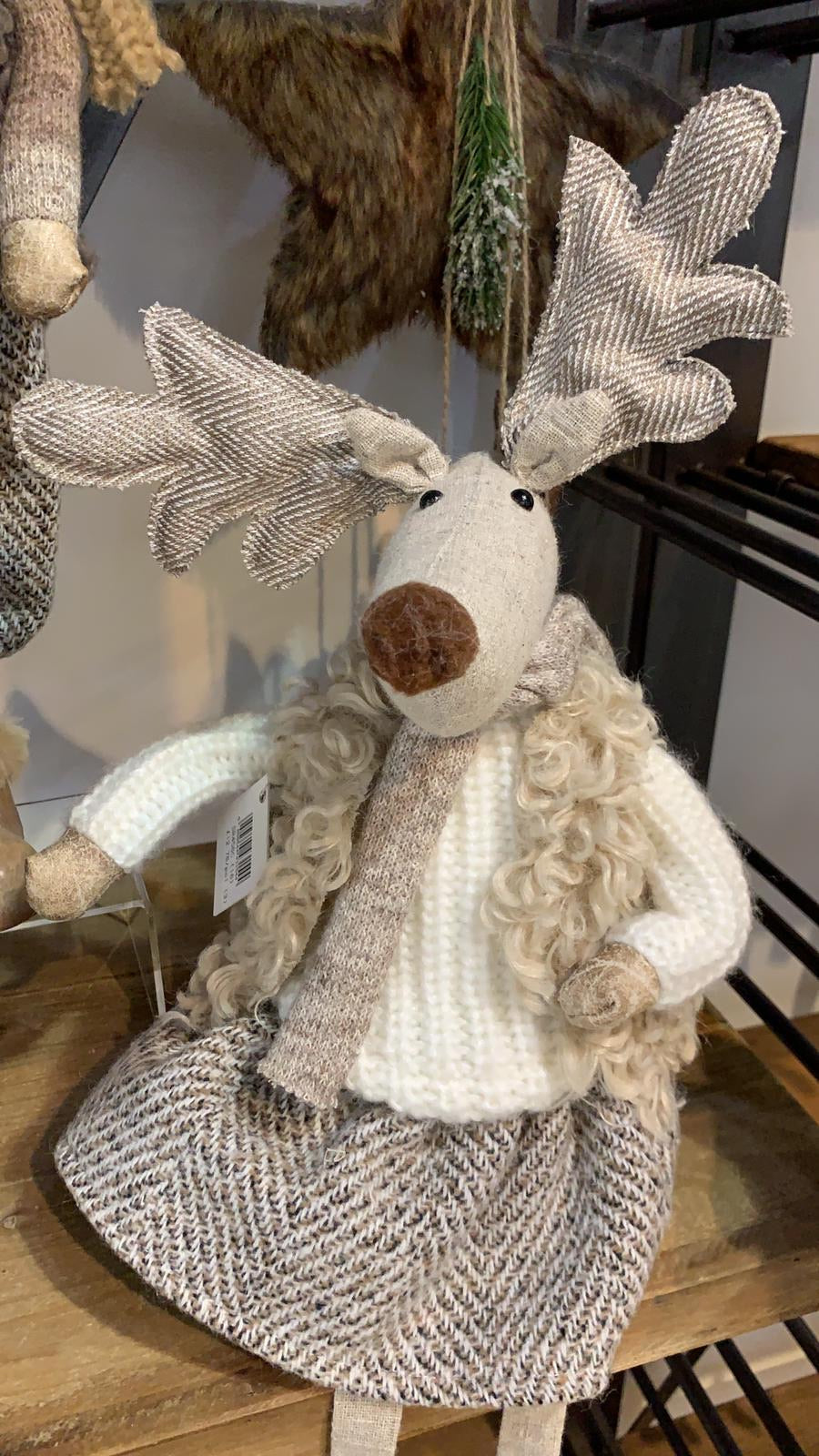 'Vera' reindeer in fluffy coat