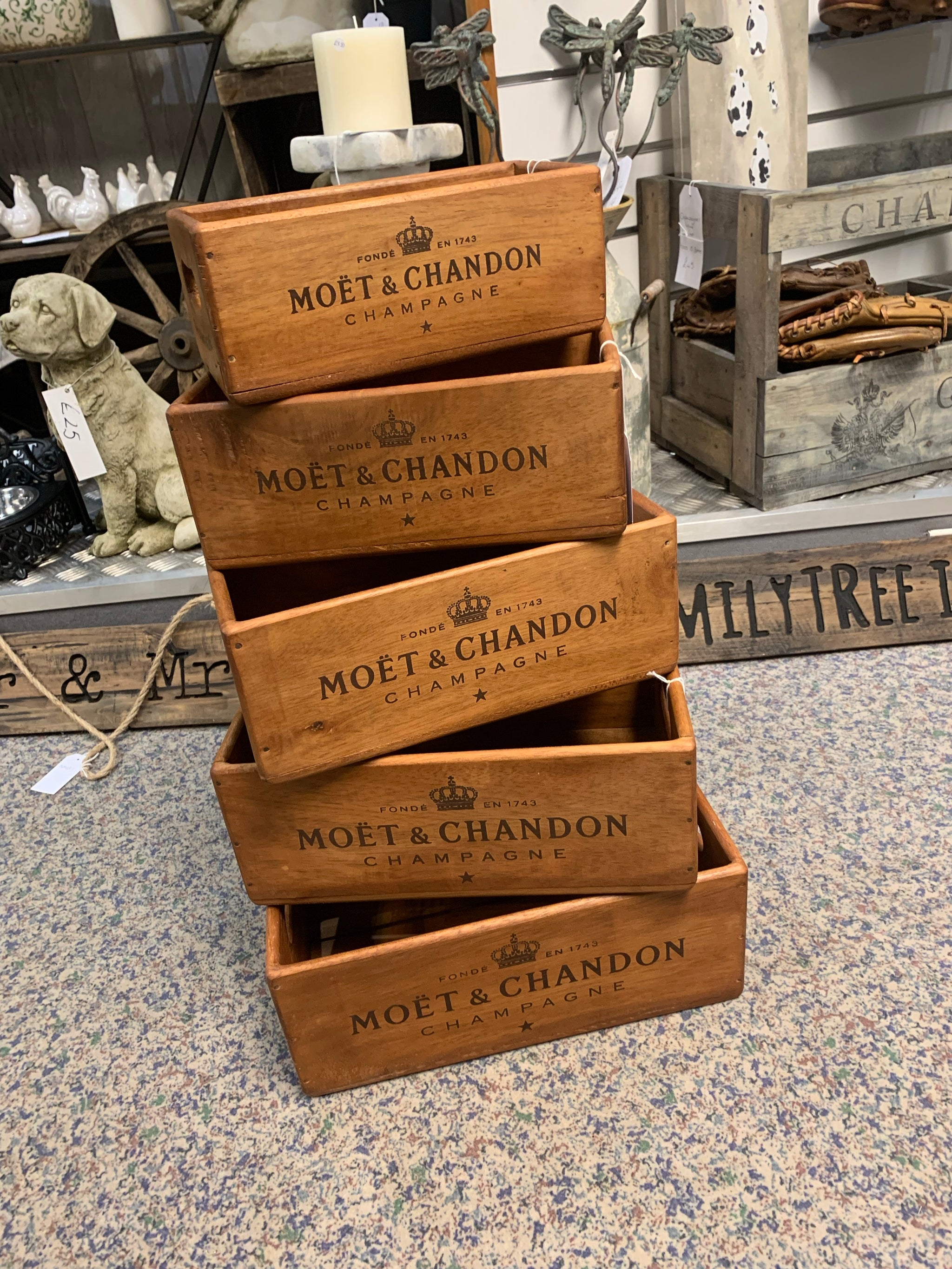 Moet Wooden Boxes