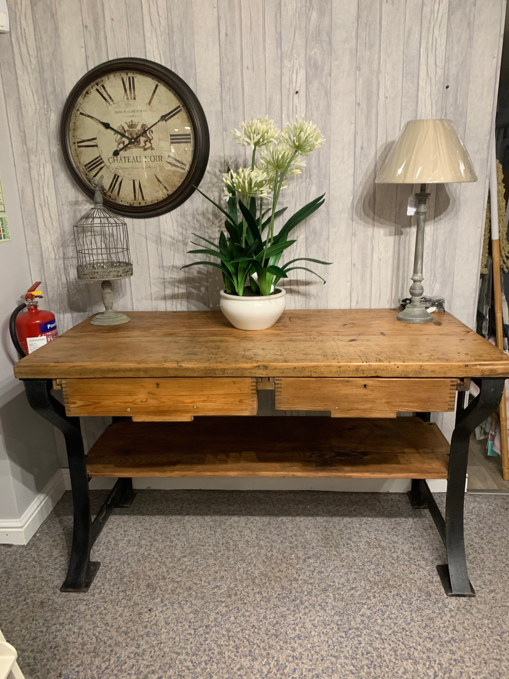 Vintage wooden workbench