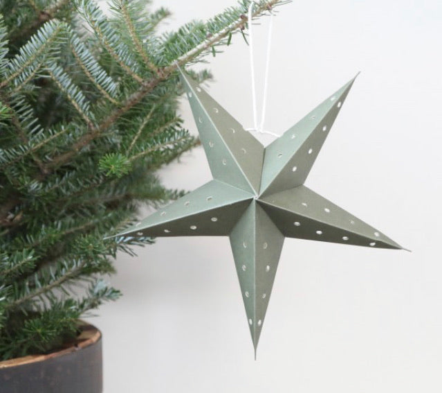 Vintage paper star - 2 sizes