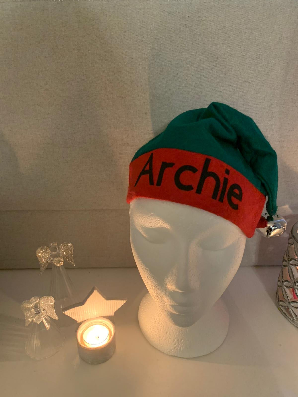Personalised jingle hat