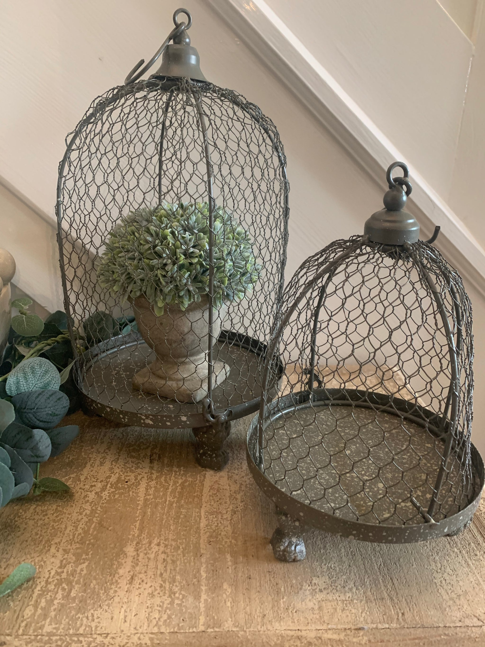 Rustic wire birdcages - 2 sizes