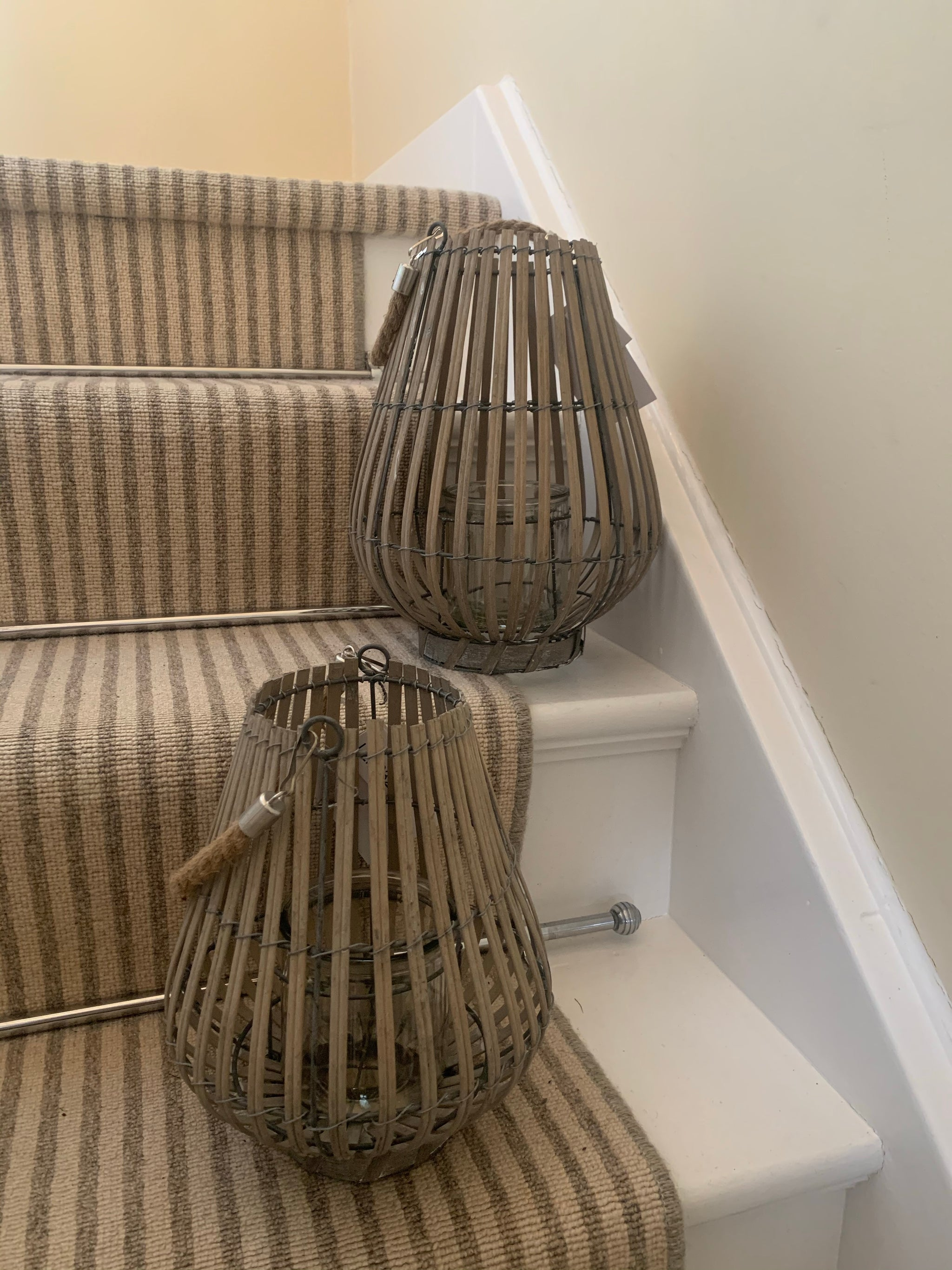 Grey wash lanterns - 2 sizes