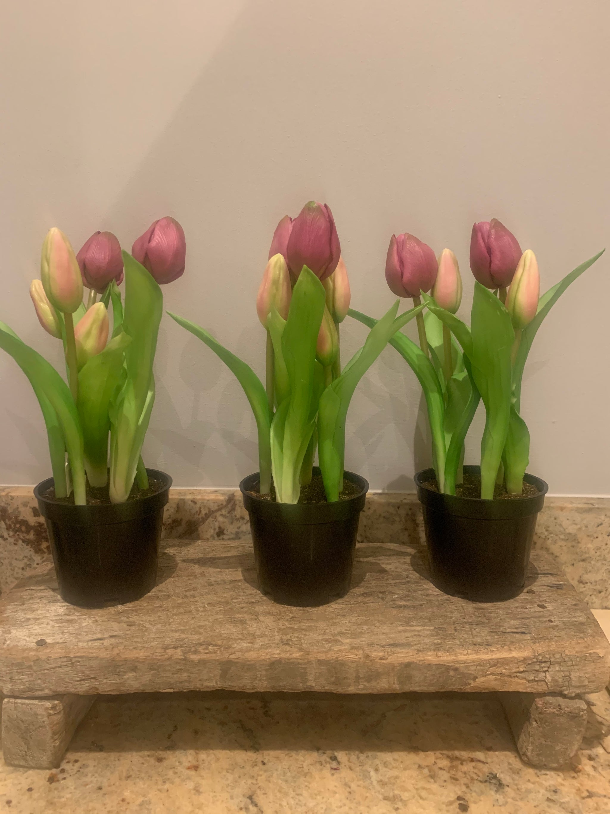 Artificial tulip pot