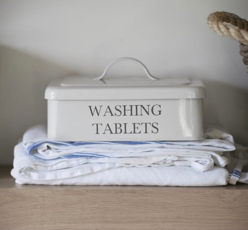 Washing tablets box