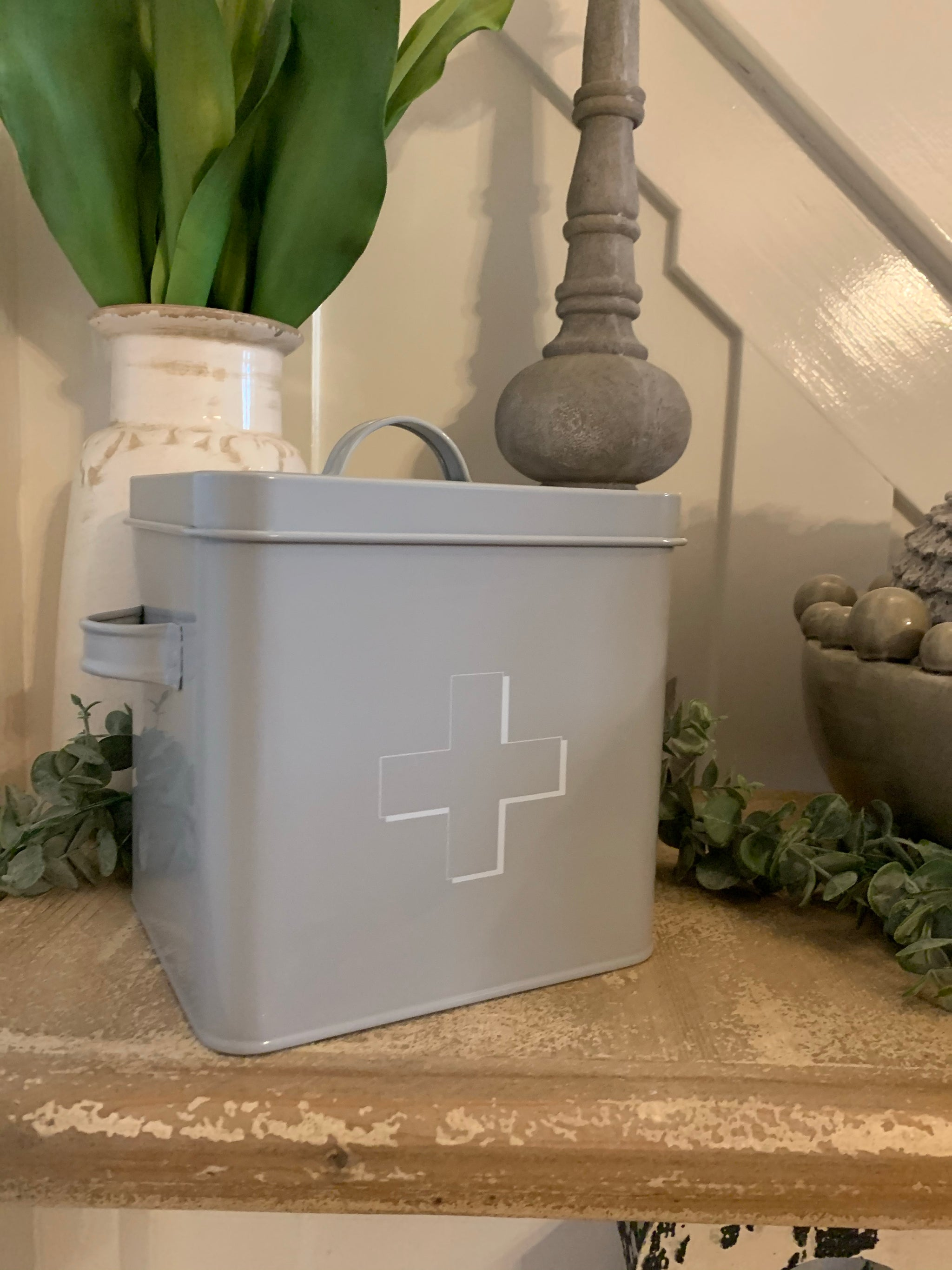 Grey First Aid Tin