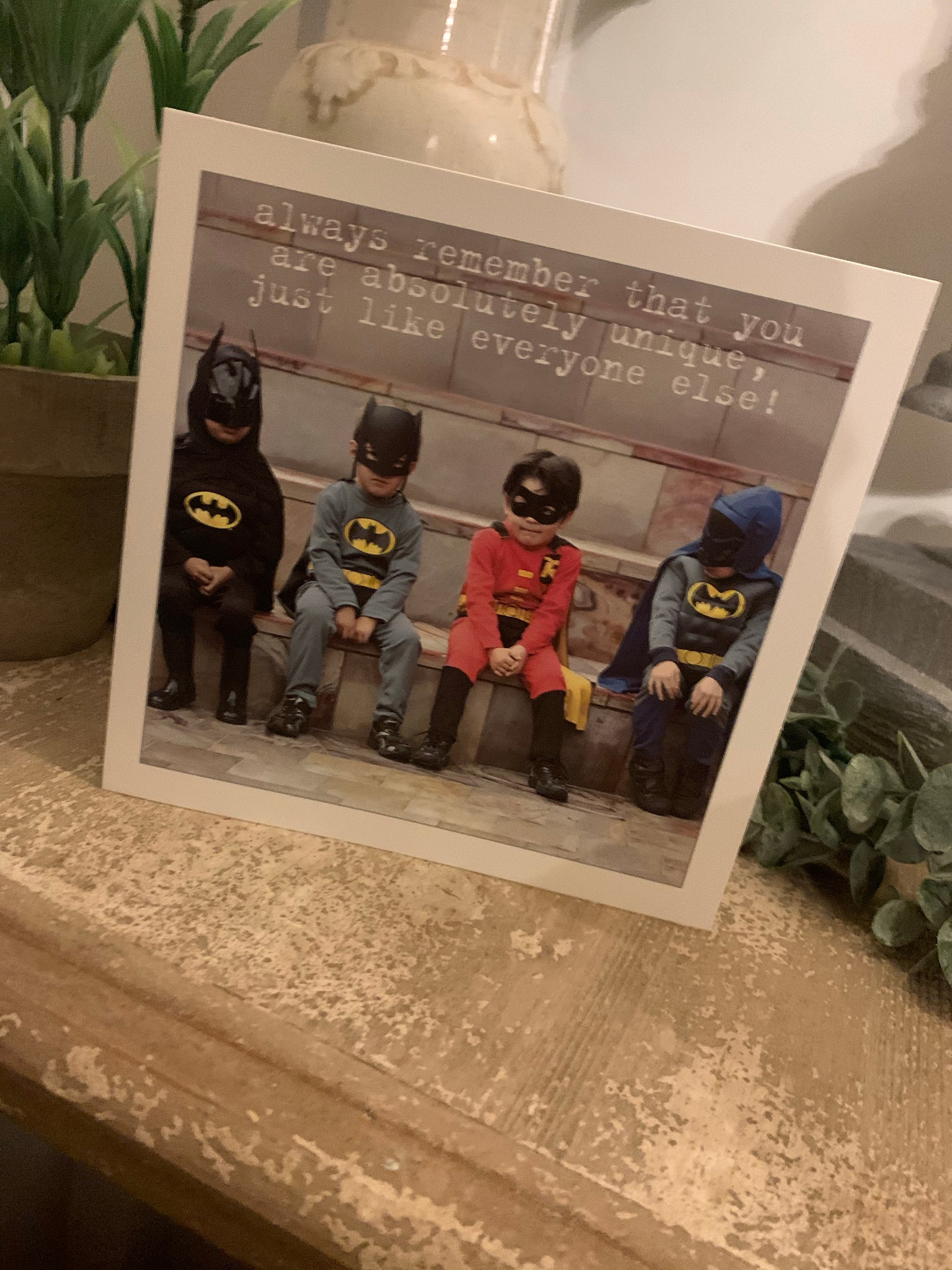 You are unique superhero greeting card