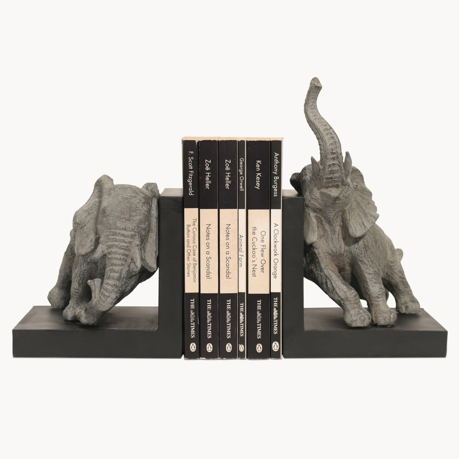 Set of 2 Elephant Bookends