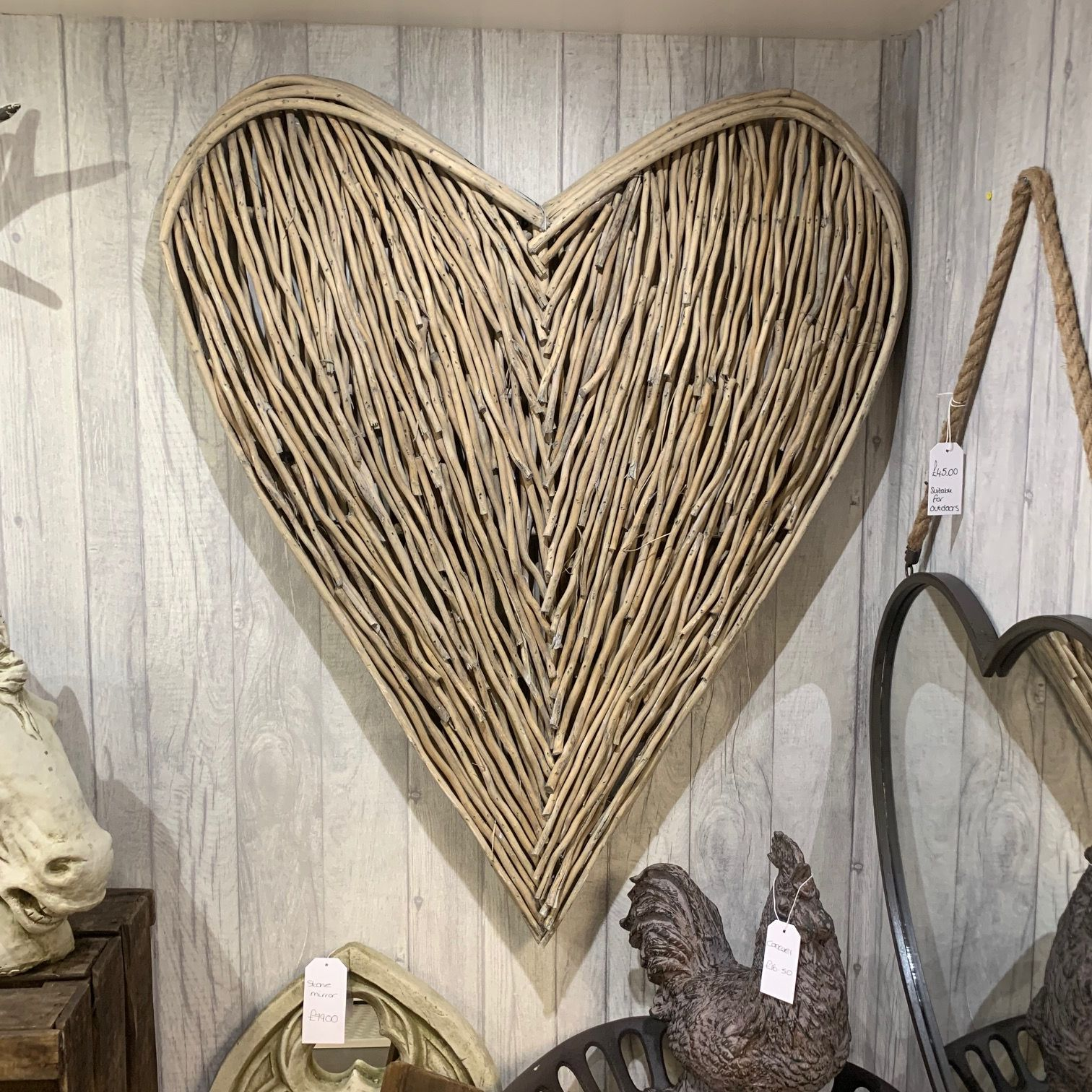 Extra Large Wicker Wall Heart