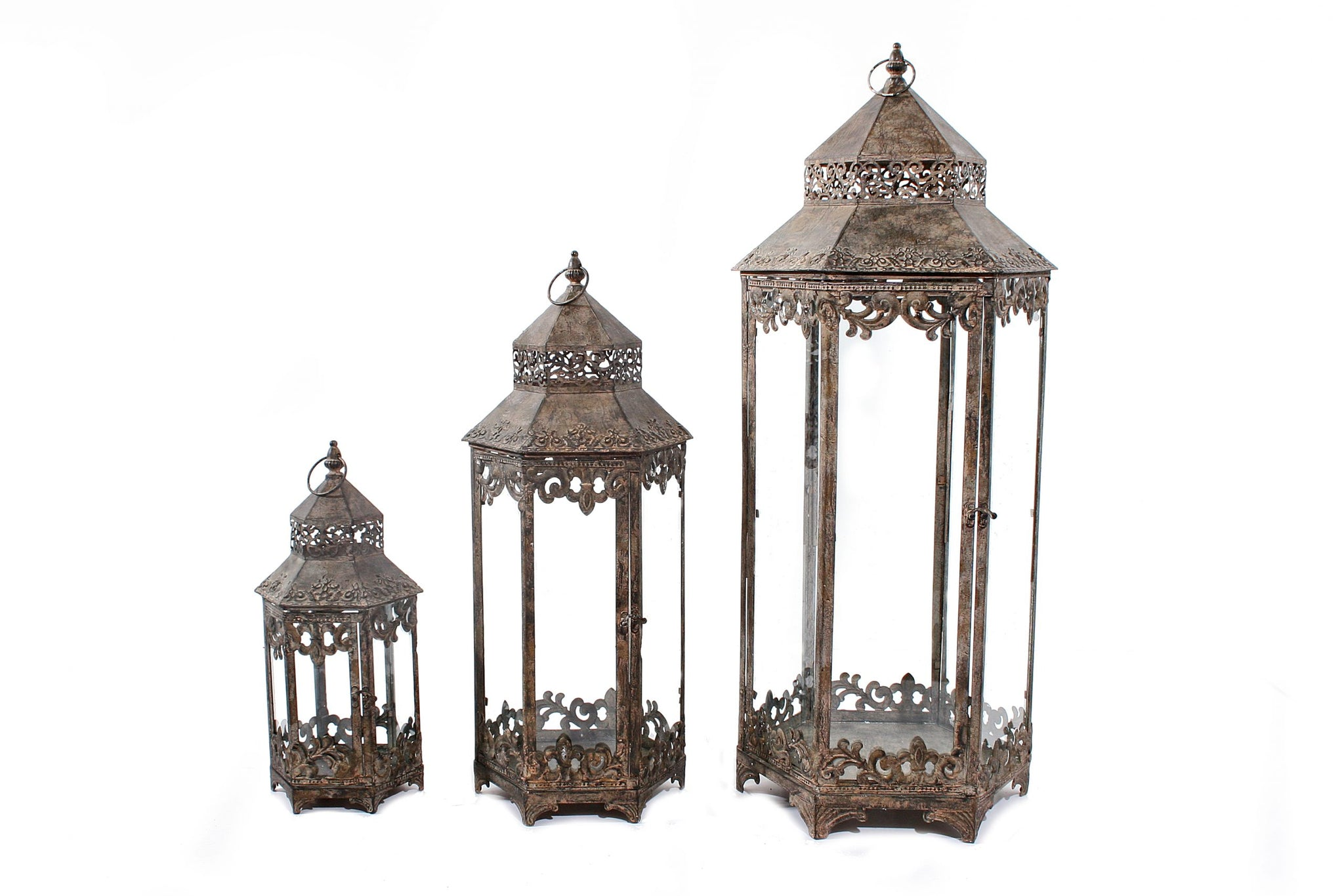 Set of 3 Siena Lanterns - NOT AVAILABLE FOR POSTAGE