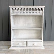 Wooden Antique Washed Wall Rack