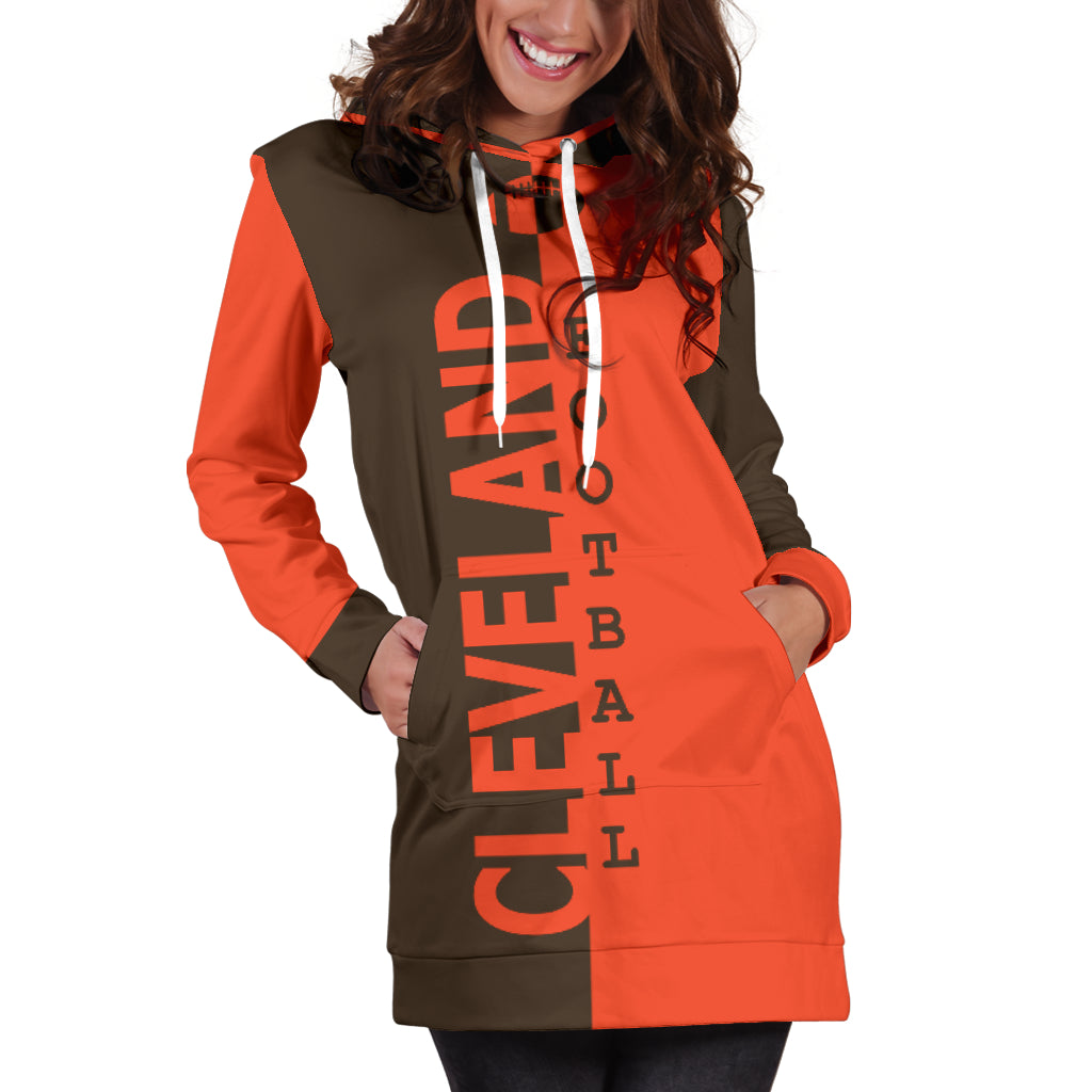 the best attitude 2a482 1880e Cleveland Browns Fans Hoodie Dress