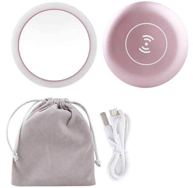 Mini Wireless Charging LED Makeup Mirror