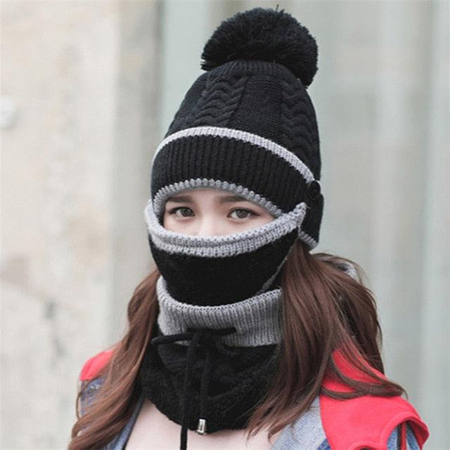 3-in-1 Thermo Beanie Scarf Set