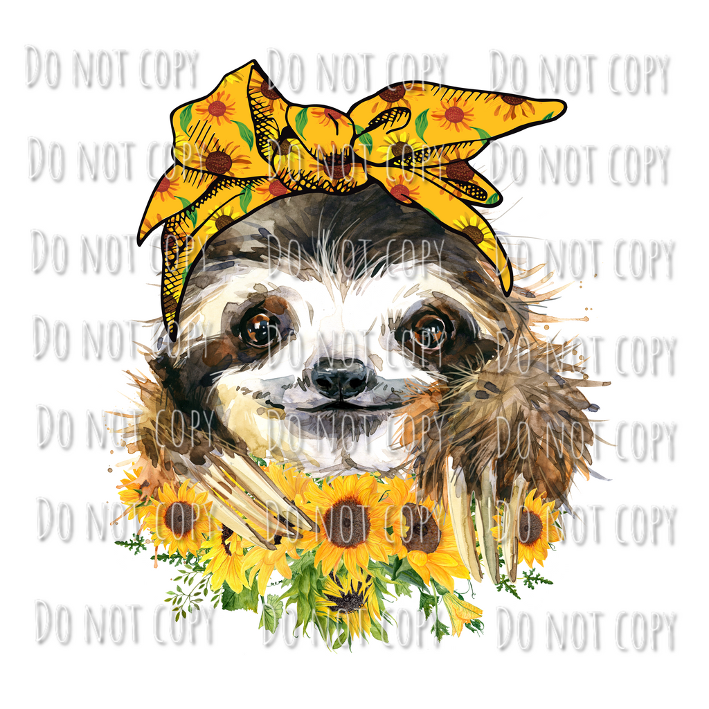 Sunflower sloth Design