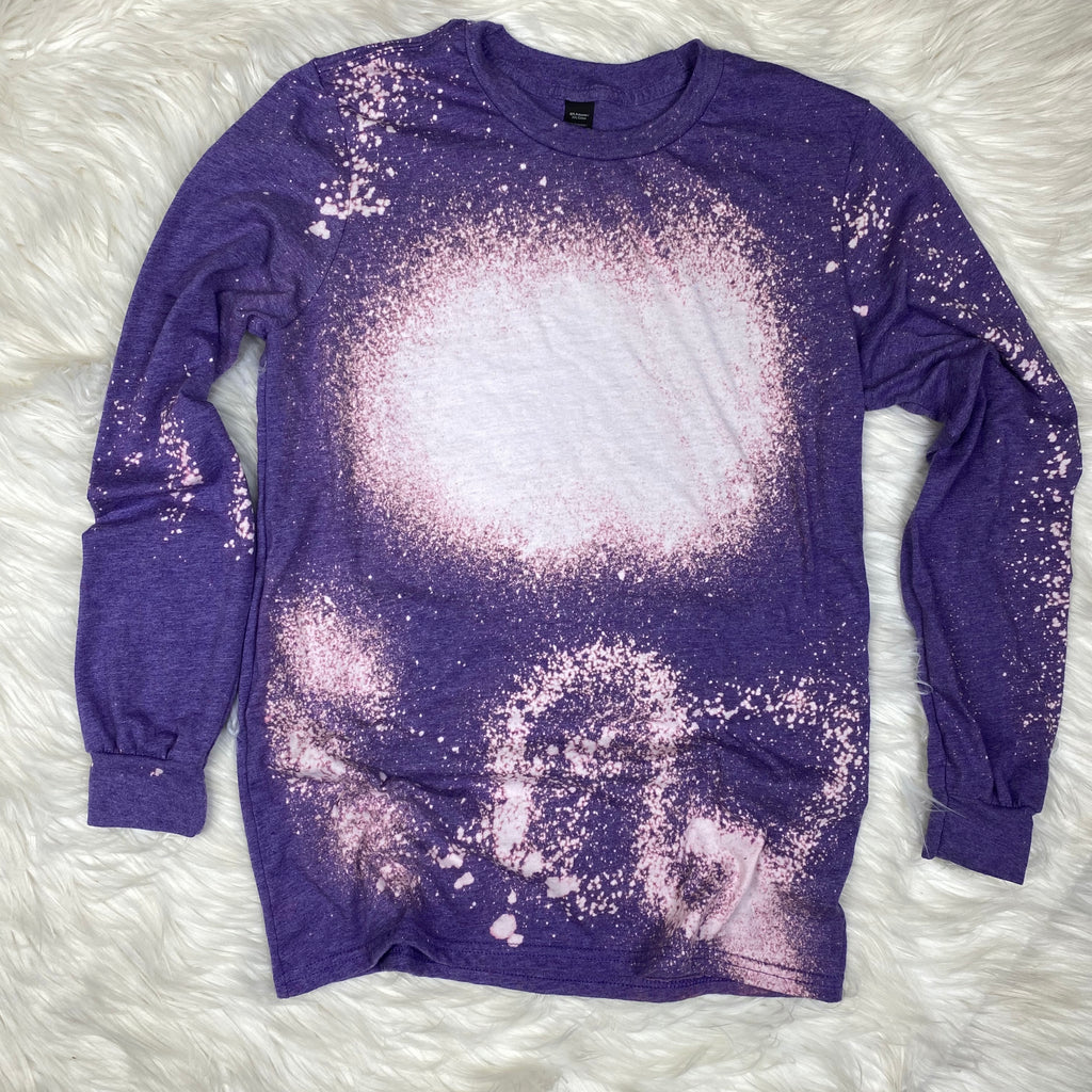 Purple Bleached Long Sleeve (Crew Neck)