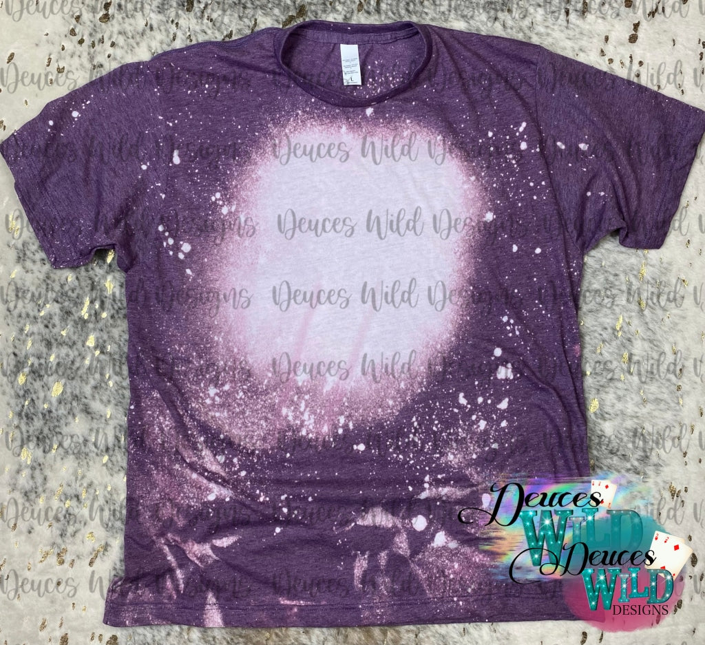 Purple Bleached Distressed Tee (Crew Neck)