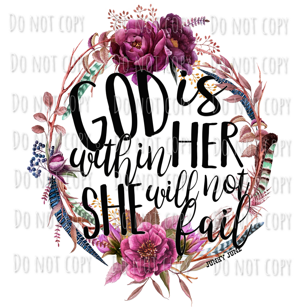 God is Within Her She Will Not Fail Design