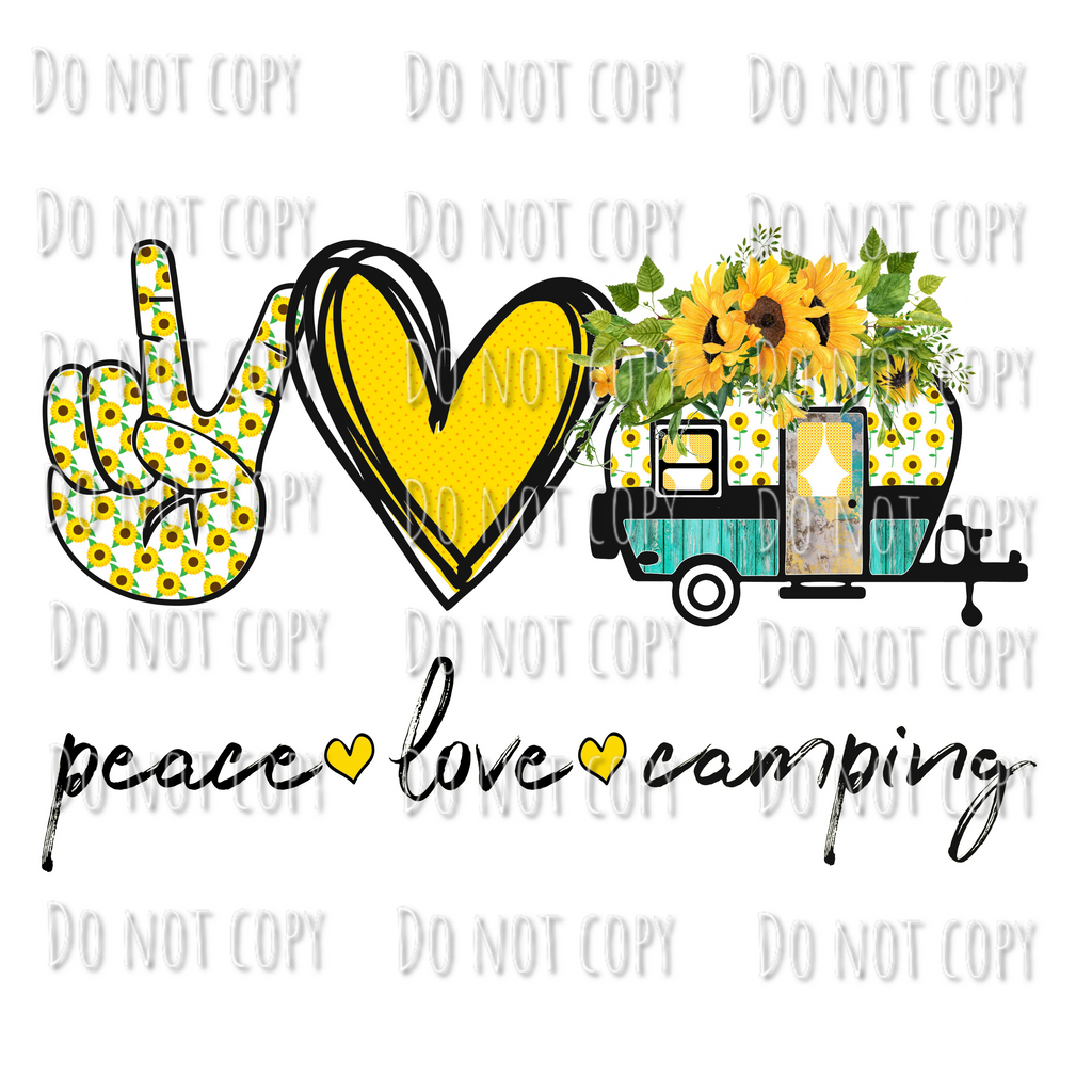 Peace Love Camping Design
