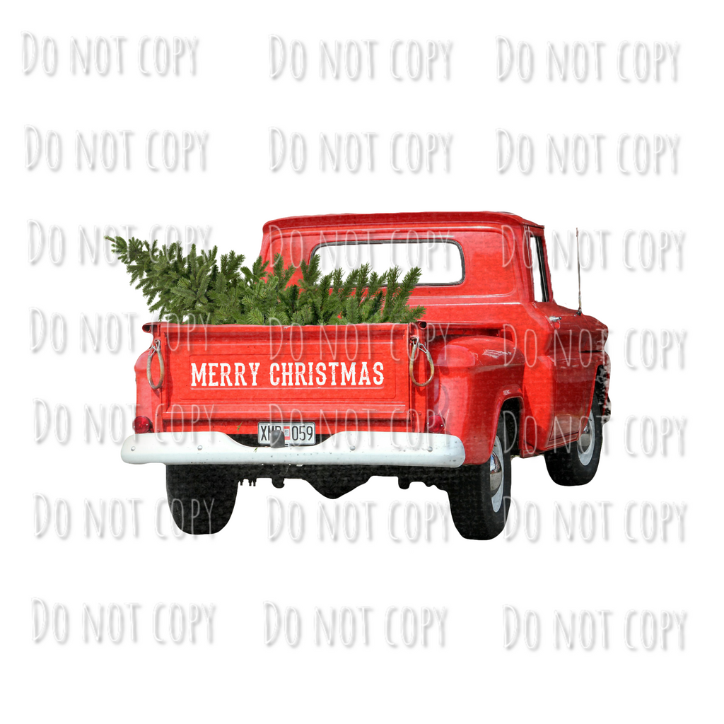 Christmas Truck with Tree Design