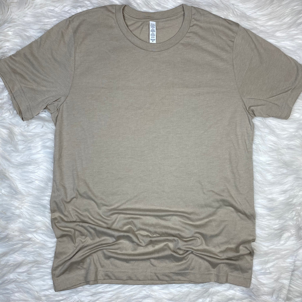 Natural Tan Tee (Crew Neck)