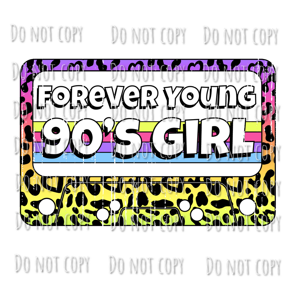 90s Girl Forever Young Design