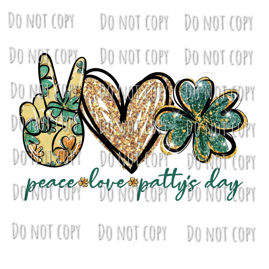 Peace, Love, Patty's Day Design