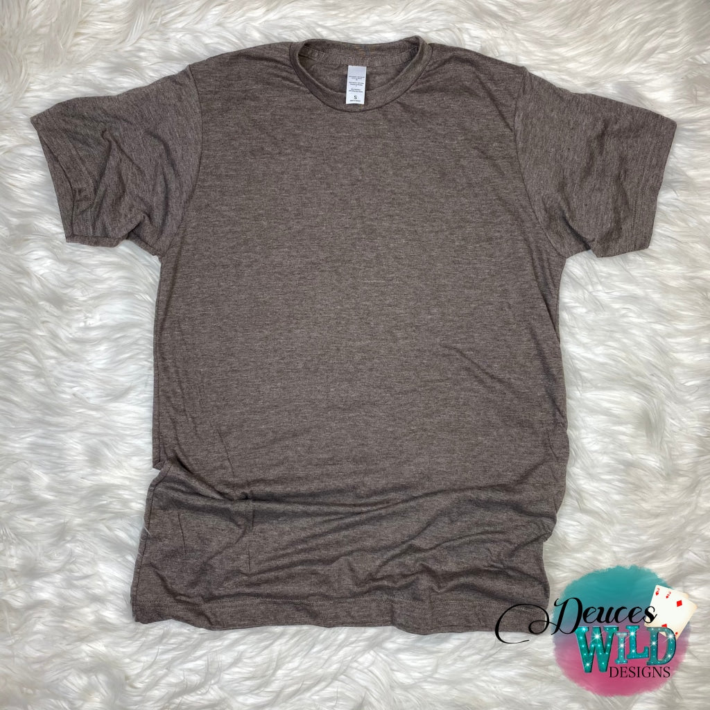 Brown Heather Tee (Crew Neck)
