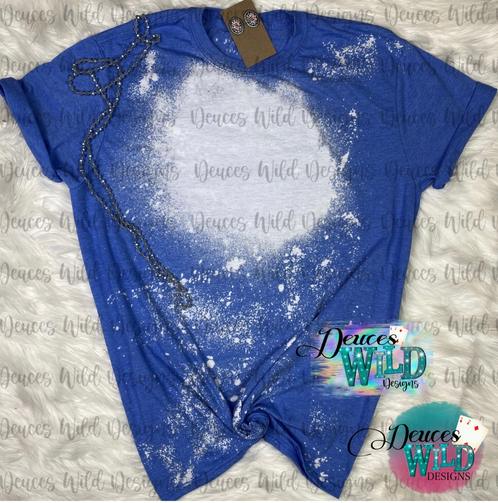 Light Royal Blue Bleached Tee
