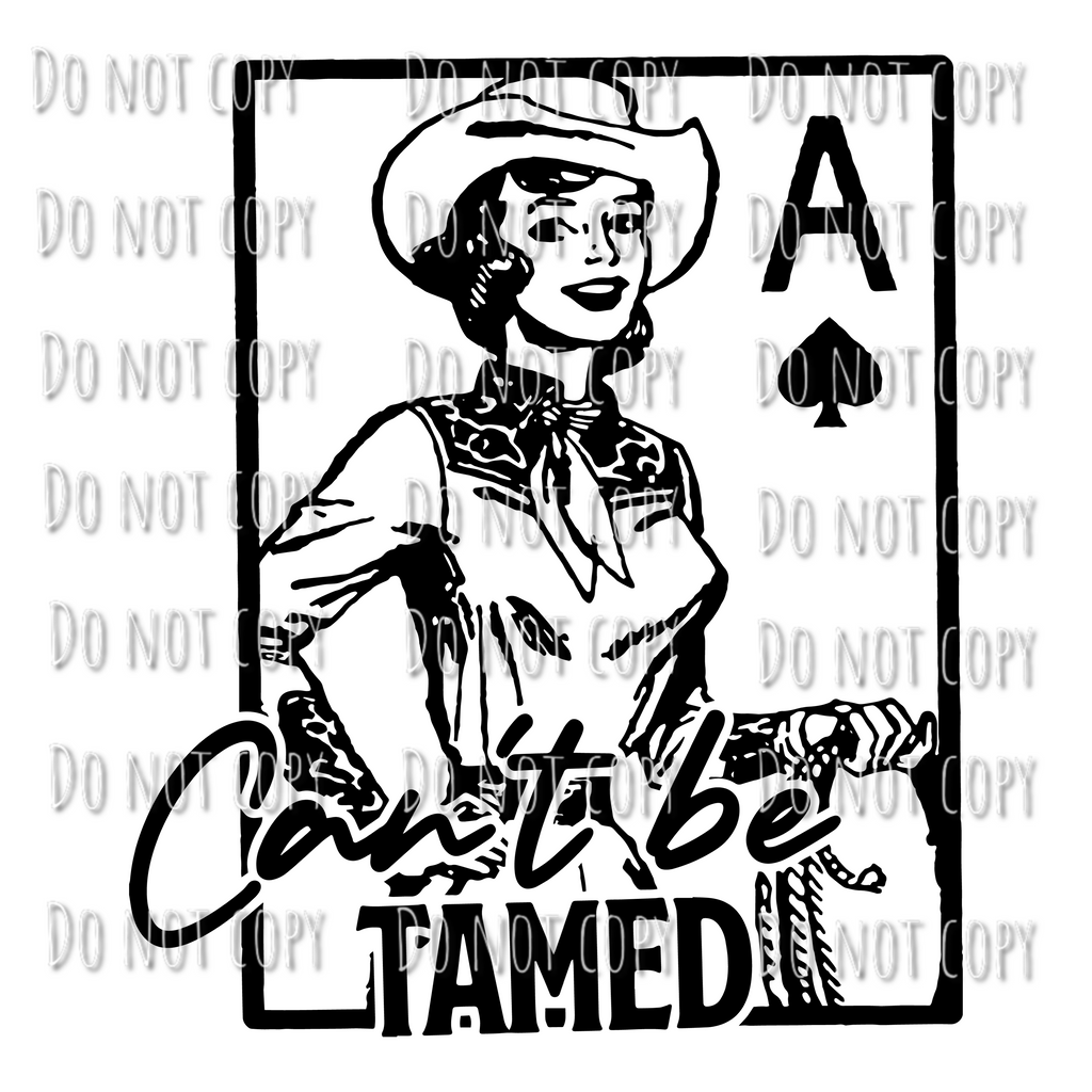 Can't Be Tamed Cowgirl Design