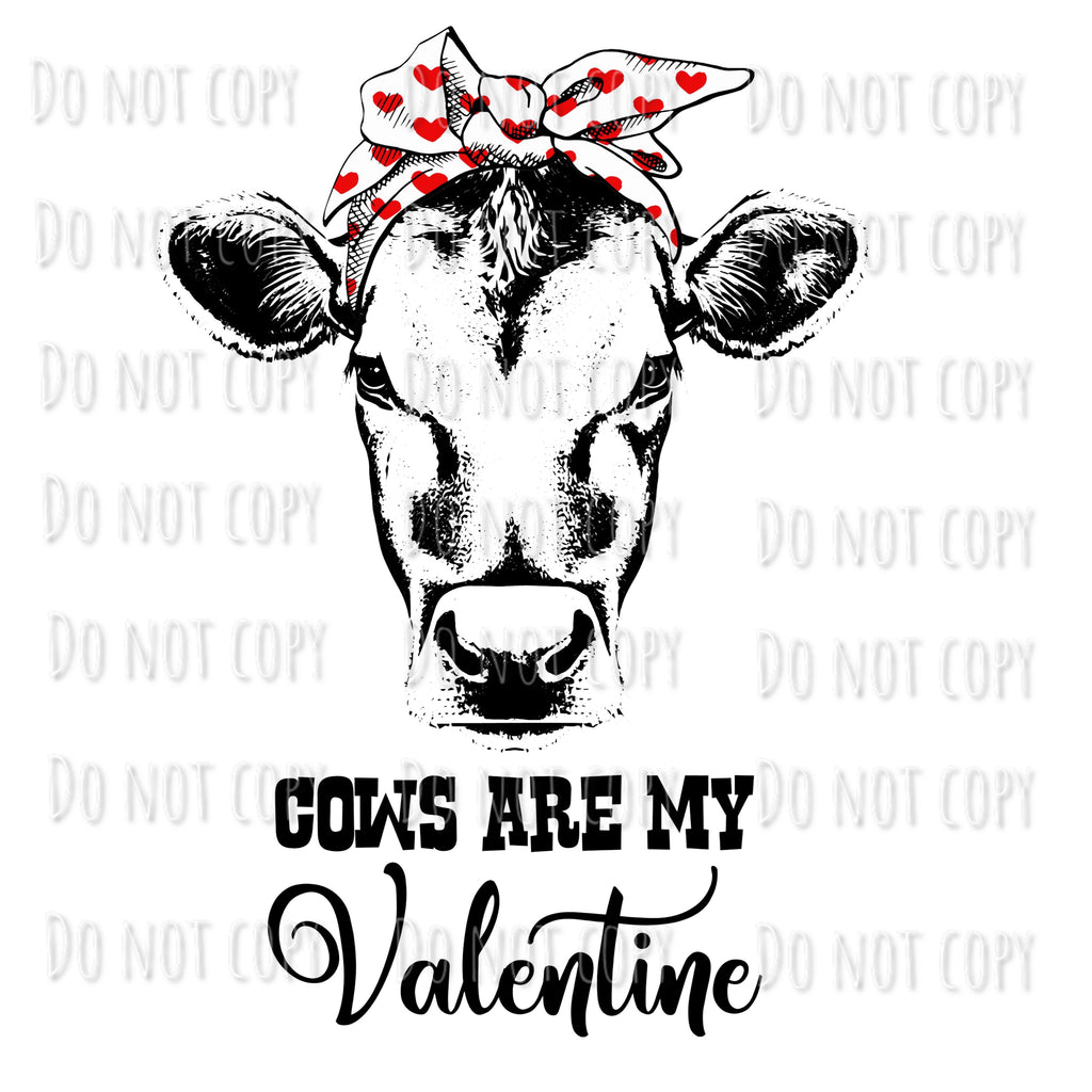 Cows Are My Valentine Design