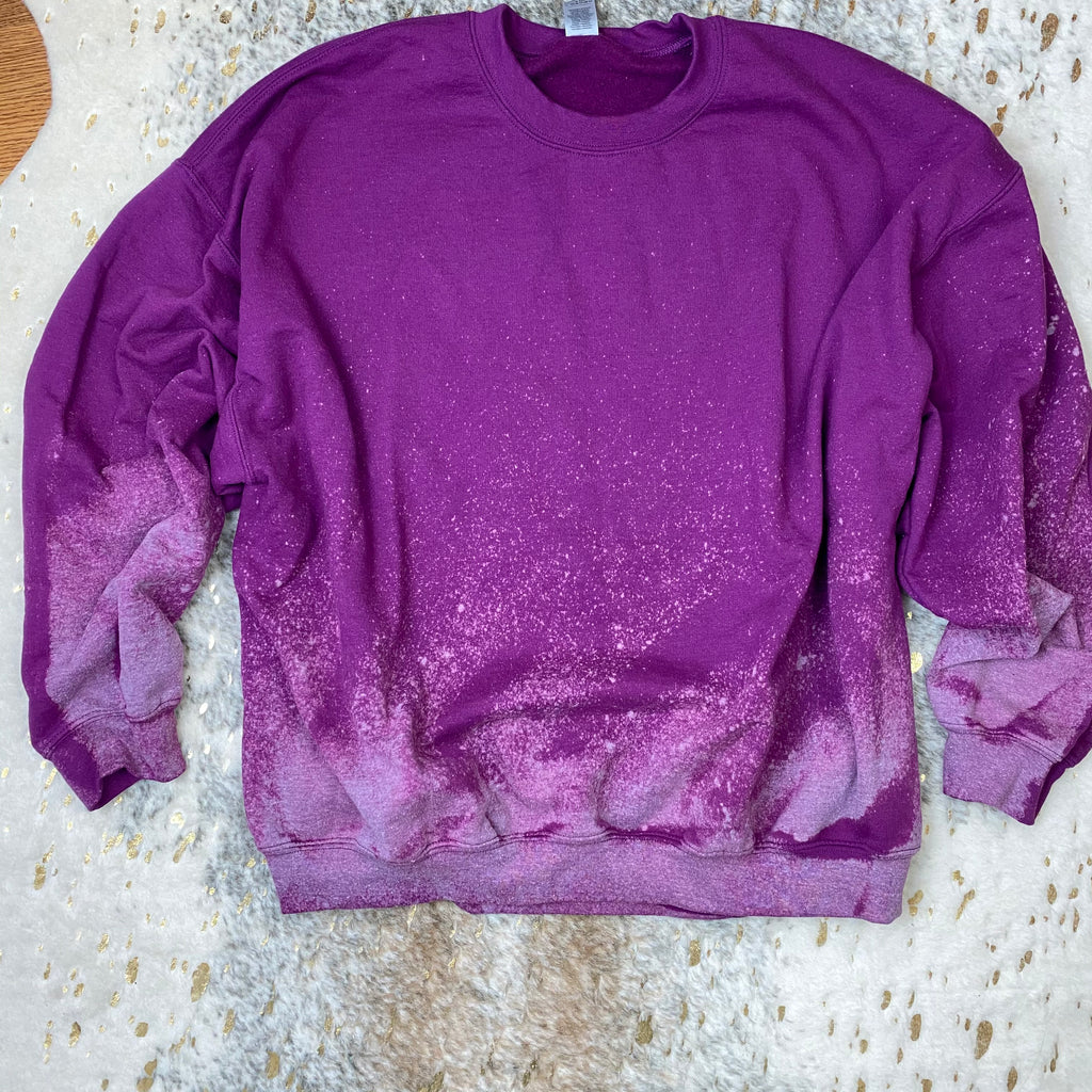 Plum Hand Dipped Sweatshirt (Crew Neck)