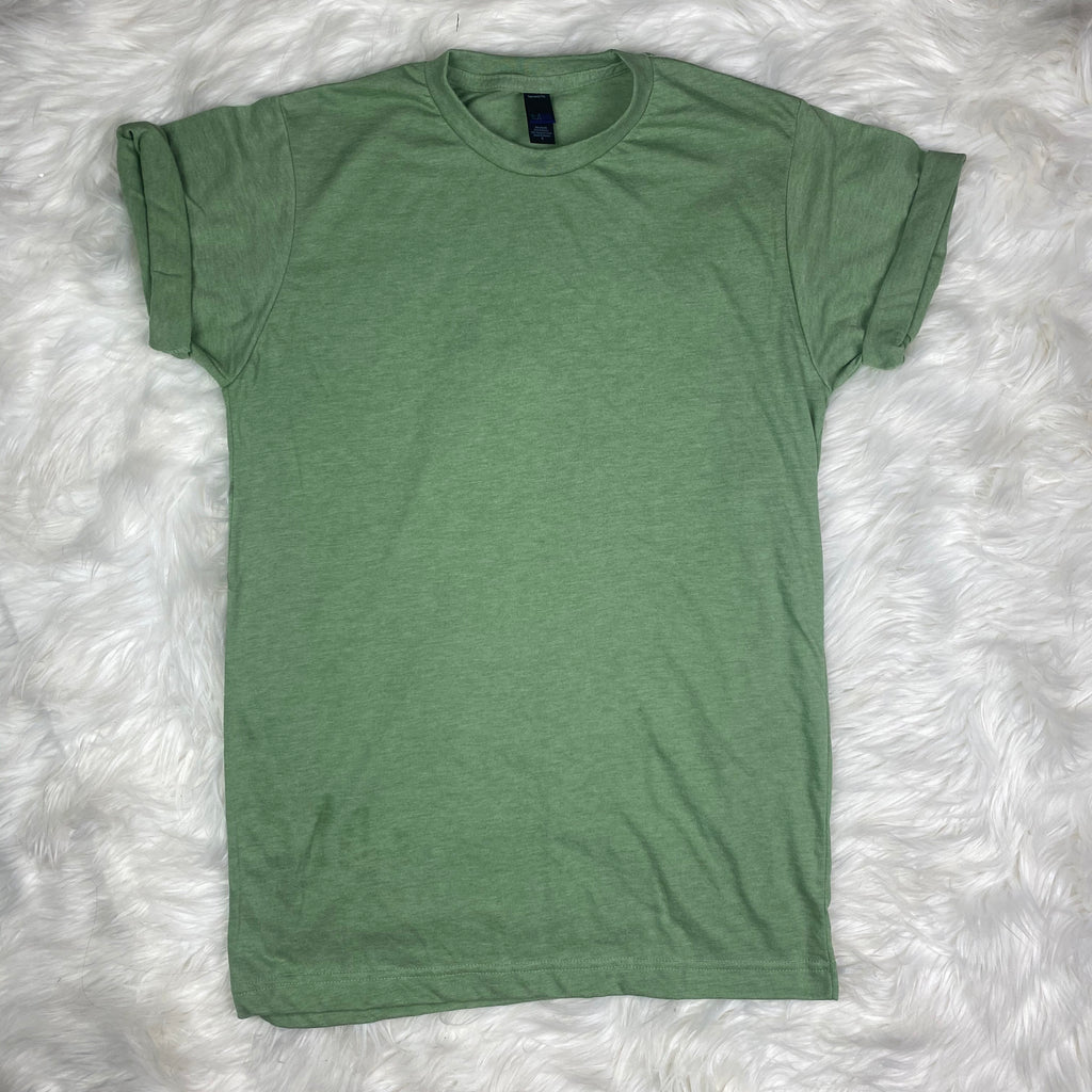 Pistachio Green Tee (Crew Neck)-Wholesale