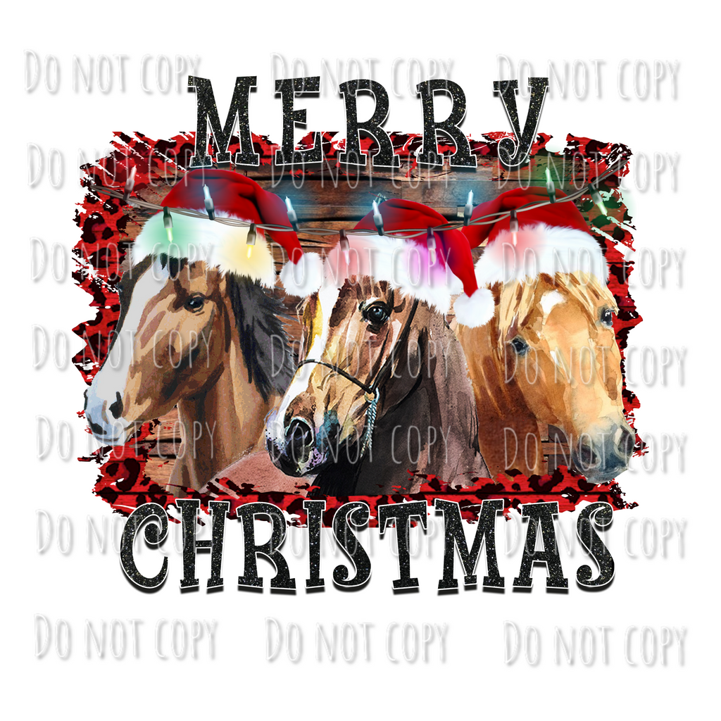 Merry Christmas Horses Design
