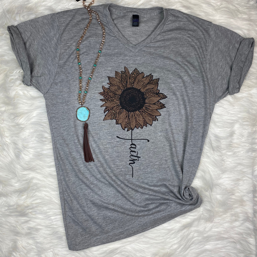 Heather Grey Tee (V Neck)-Wholesale
