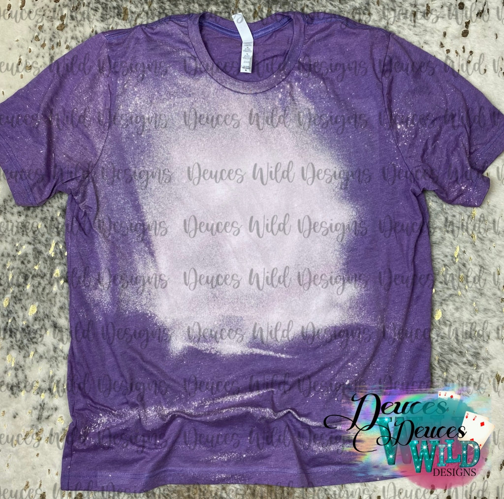 Lapis Purple Bleached Tee (Crew Neck)
