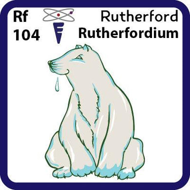 Rf Rutherfordium- Familiar Rutherford Science Game for Kids Character