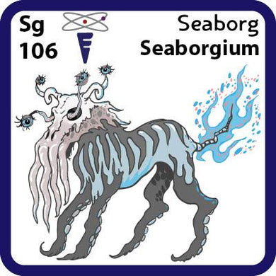 Sg Seaborgium- Familiar Seaborg-tl Science Game for Kids Character