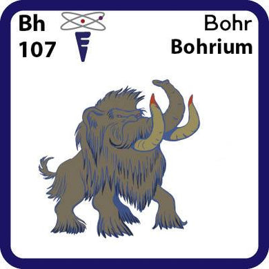 Bh Bohrium- Familiar Bohr Science Game for Kids Character