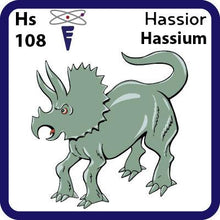 Load image into Gallery viewer, Hs Hassium- Familiar Hassior Science Game for Kids Character