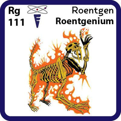 Rg Roentgenium- Familiar Roentgen Science Game for Kids Character